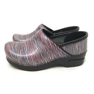 Dansko Shoes Size 36 Clogs Pattern Multi Color For